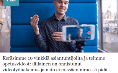 Anakom edustettuna Helsingin Sanomien artikkelissa videotyöhakemuksista